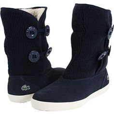 Lacoste boots one word, adorable.