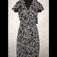$$$ SOLD $$$  Dresses & Skirts - Flutter Sleeve Chiffon Ruffle Front Dress Sz 14