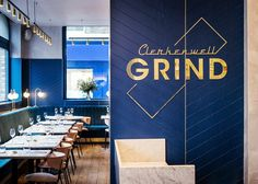 Clerkenwell Grind Restaurant London / United Kingdom. The rich heritage architecture of an 1870s warehouse was the backdrop for our eighth collaboration with Grind.