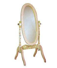 Take a look at this Crackle Standing Mirror by TEAMSON on #zulily today!