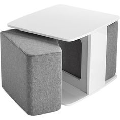 could be a great way to have a versatile table + extra seating/ottoman