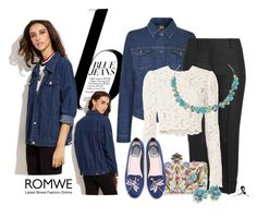 """""""Beautiful Denim"""" by quicherz on Polyvore featuring Nico, BOSS Orange, Emilio Pucci, A.L.C., Alexander McQueen, WithChic, Kenneth Jay Lane, Antigua and romwe"""
