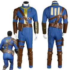 Fallout 4 FO Nate Cosplay Costume Vault #111 Outfit Jumpsuit Uniform Sole Survivor Hot Game Halloween Party Costumes For Adult #Affiliate