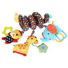Hanging and Rattling Crib Toy for Baby:  Price: $14.99 & FREE Worldwide Shipping.  Visit us and see our 300+ catalog.  We sell toys, materials and costumes with a learning purpose.  Your kids will thank you later!