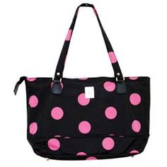 @Overstock - Keep your laptop safe and look stylish at the same time with this pink and black laptop bag. This bag is fully-lined for complete protection and offers multiple interior pockets for keeping your belongings easily organized while on the go.http://www.overstock.com/Luggage-Bags/Jenni-Chan-Womens-Black-Pink-Dots-Laptop-Tote-Bag/5828524/product.html?CID=214117 $30.00