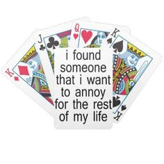 Found Bicycle Playing Cards - love gifts cyo personalize diy