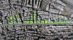 """Peace"" in arabic painted by Ashekman on the roofs of 85 buildings in Tripoli's Syria street, in Lebanon. (ASHEKMAN) http://pow.photos/2017/lebanon-pow-19-25-october/"