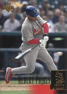 2001 Upper Deck Baseball Albert Pujols Rookie Card by Upper Deck. $64.95. 2001 Upper Deck Baseball #295 Albert Pujols Rookie Card. Near Mint to Mint condition. Comes in a plastic top loader for its protection.