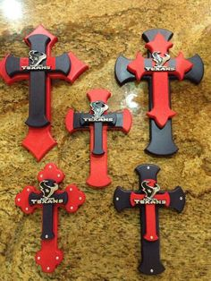Texans crosses from sass of Ash Designs