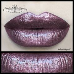 Iron Rose Lip Gloss/Hybrid by @houseofbeauty.co .. Some gorgeous metallic goodness right here  *Back in stock tomorrow.