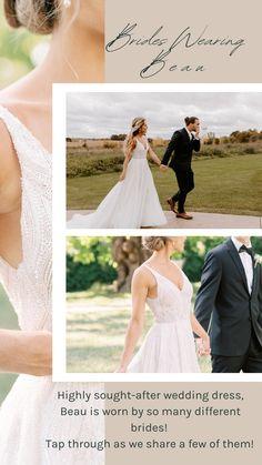 After Wedding Dress, V Neck Wedding Dress, Popular Wedding Dresses, Bridal Wedding Dresses, Silk Fabric, Dress Collection, Feminine, Bride, Lace