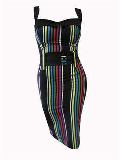 9c99dd42ec5e4 Image of Switchblade Stiletto Serape Darling Dress - verti-cool vibes dress  at modcloth