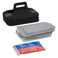 Pyrex Portable Baking Dish Set 3-qt. -- or this one since it comes with a dish and a lid