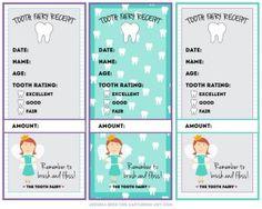 Tooth Fairy Receipt Free Printable
