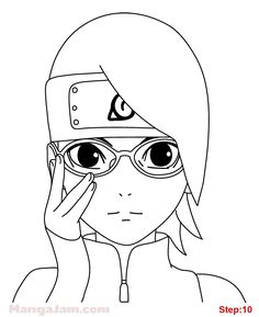 to draw anime, how to draw anime Naruto Drawings Easy, Naruto Sketch Drawing, Cool Art Drawings, Anime Sketch, Easy Drawings, Drawing Sketches, Anime Naruto, Naruto Cute, Anime Lineart