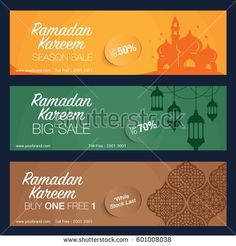 Ramadan banner design. Simple graphic version.