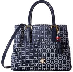 8c6bc9ae69f Tommy hilfiger summer of love convertible shopper jacquard at 6pm.com. Navy Blue  PurseNavy ...