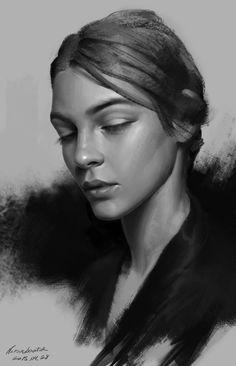 ArtStation - Portrait study/value/, Naranbaatar Ganbold
