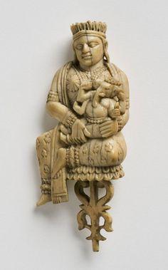 Goddess Chandi or Parvati Seated on a Lotus     Bengali     Philadelphia Museum of Art