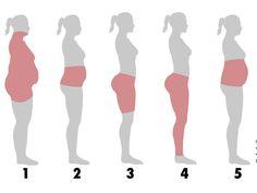 Nimmst du eher am Bauch oder am Po zu? Das verraten deine Problemzonen über deinen Lebensstil!