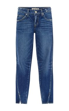 Twist Skinny Cropped Jeans With Ankle Slit by AMO Now Available on Moda Operandi