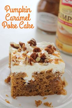 This Pumpkin Caramel Poke Cake is an amazing fall dessert. You will find it easy…