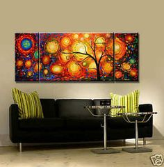 ZWOP108 charming Modern Abstract Huge Oil Painting art Canvas