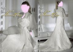 Long Sleeve Wedding Dresses Bridal Gown , White SimPle Lace Chiffon Tulle , or prom dress , Idea , Jacket Bridal Wraps