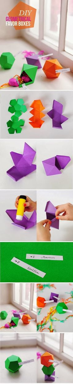 My DIY Projects: Make A Geometrical Favor Boxes