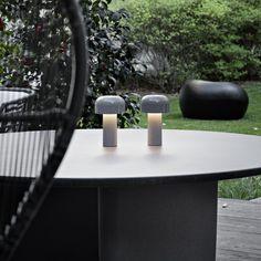 Portable, rechargeable and wireless, Bellhop is a sleek modern LED tabletop lamp. Outdoor Deck Lighting, Outdoor Light Fixtures, Rock Design, Landscape Plans, Design Museum, Light Decorations, Land Scape, Home Deco