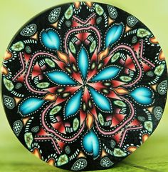 Kaleidoscope Polymer Clay Cane, 'Starflower'.