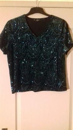 2044759b177970 Ladies Top Size M Colour Black With Sparkle Design. Lori Cornelius · Tops