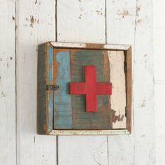 Rustic Red Cross First Aid Kit
