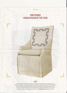 a slip covered chair is casual and so practical, but dressy!