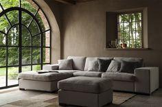 Loungebank in landelijke uitvoering. Top zitcomfort tegen een aantrekkelijke prijs. Deze stoffen loungebanken hebben zeer uitgebreide mogelijkheden.