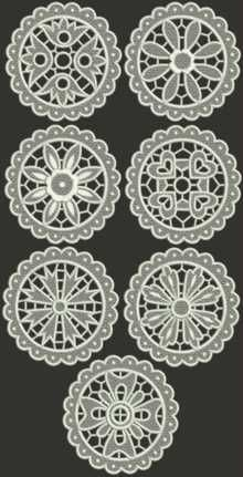 Advanced Embroidery Designs. Freestanding Lace >> Doilies Embroidery Designs.