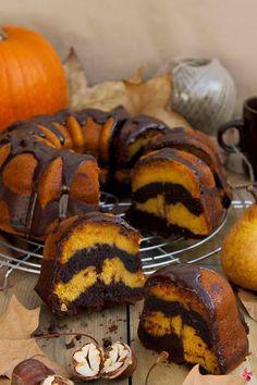 RECETA DE BUNDT CAKE de calabaza y chocolate.
