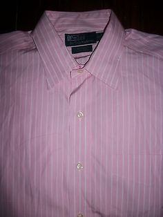Ralph Lauren Classic Fit Andrew Men's Size L Long Sleeve Button Front Shirt