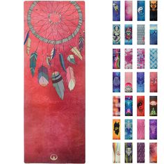 Printed Yoga Mat , Prana Yoga Mat , Bikram Yoga Mat - Incredibly Comfortable Yoga Mats for Men and Women - Gorgeous Microfiber Printed Designs – Dream Catcher Feathers - Soul Catcher - Soul Obsession Bikram Yoga, Yin Yoga, Yoga Accessories, Yoga Mats, Boho Chic, Boho Style, No Equipment Workout, Dream Catcher, Boho Fashion