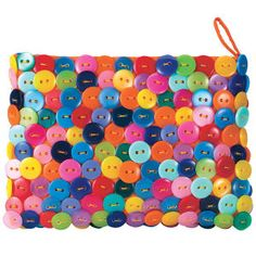 Button Coin Purse - Gifts, Clothing, Jewelry, Home Decor and Home Furnishings - Unique and Affordable Gifts Button Art, Button Crafts, Diy Buttons, Unique Purses, Gifts For New Moms, Fabric Jewelry, Beautiful Bags, Bunt, Purses And Bags
