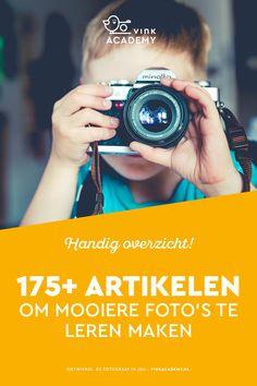 Leren fotograferen: op deze pagina staat een handig overzicht met meer dan 175 artikel vol fotografie tips en fotografie inspiratie!