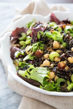 Recipe: Wild Rice and Mixed Greens Salad