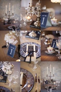A Combination of Glamour & Vintage photo #wedding #decoration