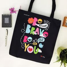 BE BRAVE. Cute illustration by @pja.ayeob on Creative United. Get this colorful #totebag here: http://ift.tt/2mk1kgV . Click link in bio @creativeunited.my to visit Creative United Malaysia's largest art marketplace. Follow us for daily dose of cool artworks by Malaysian indie artists and designers. Showcase and sell your works as products on Creative United without any cost. Join us! . #creativeunitedmy #creativeunited #madeinmalaysia #malaysiaart #lokalah #lokalart #lokalbrand #muslimah…