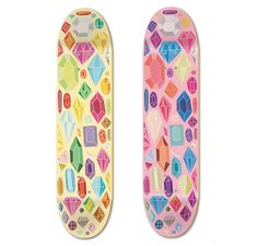 gem-covered skateboards