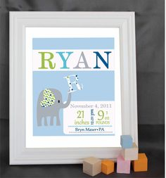 Custom  Art Print Baby print Boy Personalized by alovelydetail, $24.00