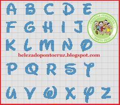 Resultado de imagen de pinterest punto croce alfabeto disney