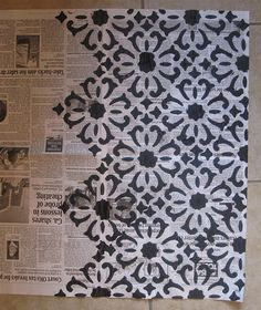 DIY newspaper wrapping paper- how fun!