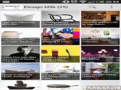 """Design Milk RSS Reader  Android App - playslack.com ,  *** Design Milk RSS Reader is an excellent app that lets you find all the interesting news in regards to the website designmilk.com """"Design blog featuring interior design ideas, architecture, modern furniture, home decor, art, style, and technology founded by Jaime Derringe.""""New Fabulous Android Material design for both smartphone and tablet with magnificent widgets for your home screens.Available in your native Android Language!** Note…"""