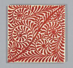 William De Morgan red lustre tile, Scroll | Flickr - Photo Sharing!
